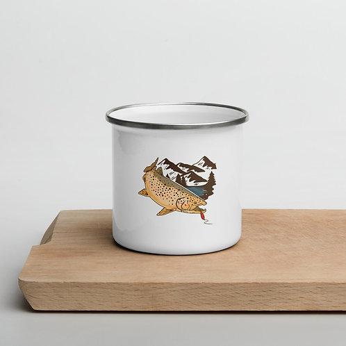 Fish Enamel Mug