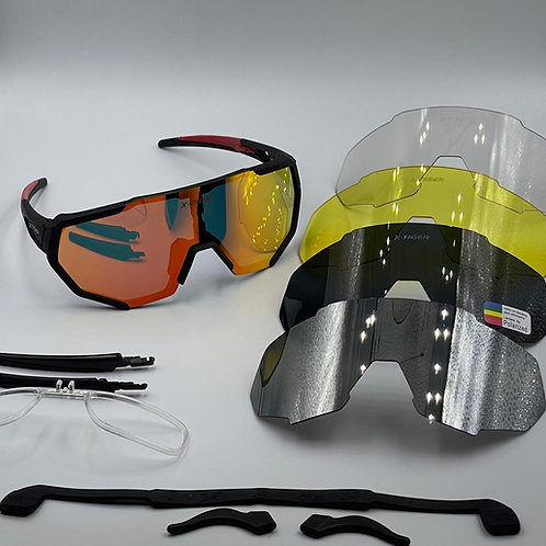 Oculos ciclismos XTiger Performance . 5 lentes