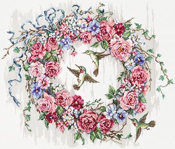 LETI 990 Hummingbird Wreath