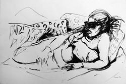 Mujer con gata