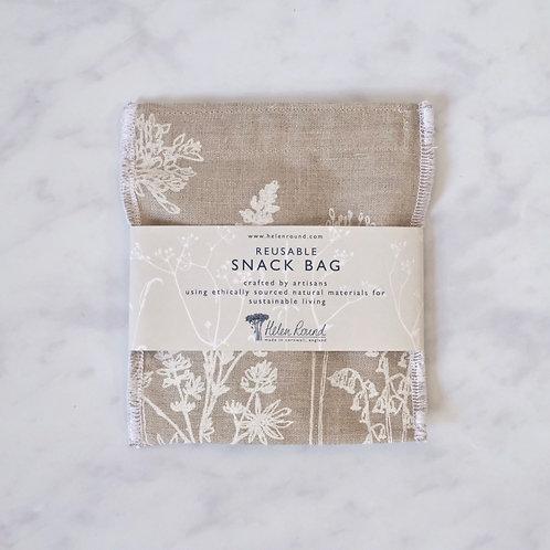 reusable snack bag - natural