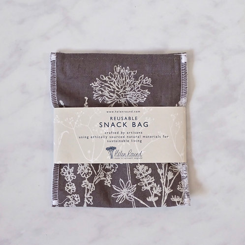 reusable snack bag - slate grey