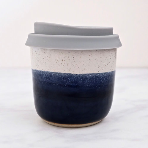 short ceramic travel mug - midnight
