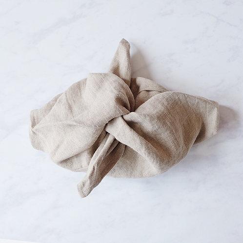 beautiful linen bento bag