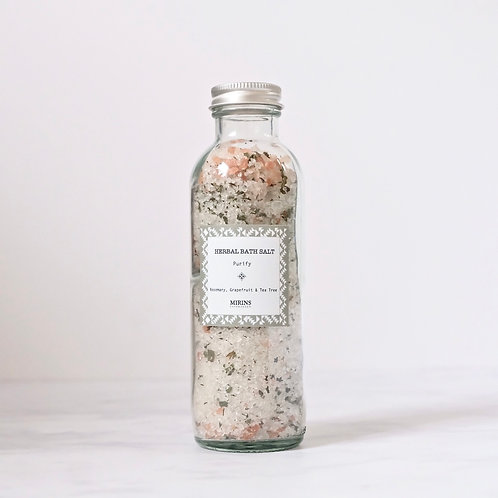 herbal bath salt - PURIFY - grapefruit, rosemary & tea tree