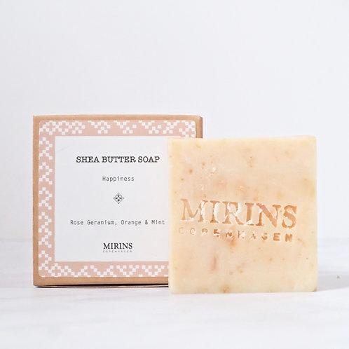 Shea Butter Soap - HAPPINESS - Rose Geranium, Orange & Mint