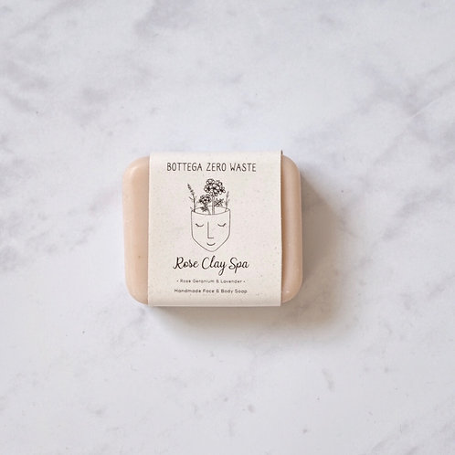 rose clay spa soap