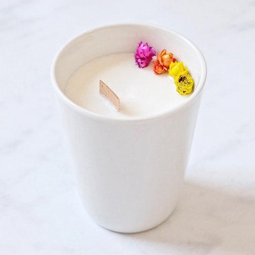 frangipani flower soy candle