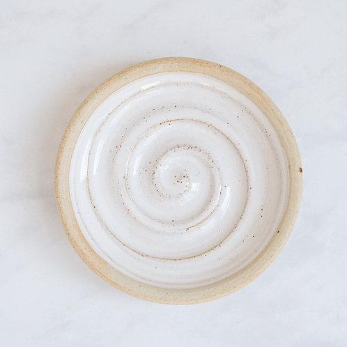 beautiful white ceramic soap dish