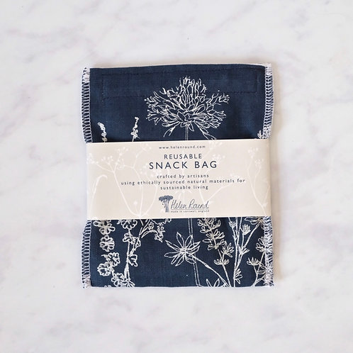 reusable snack bag - navy