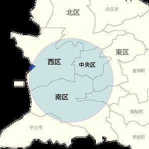 熊本市の地図
