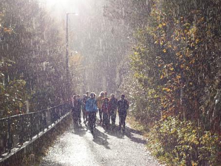 I runners e la pioggia