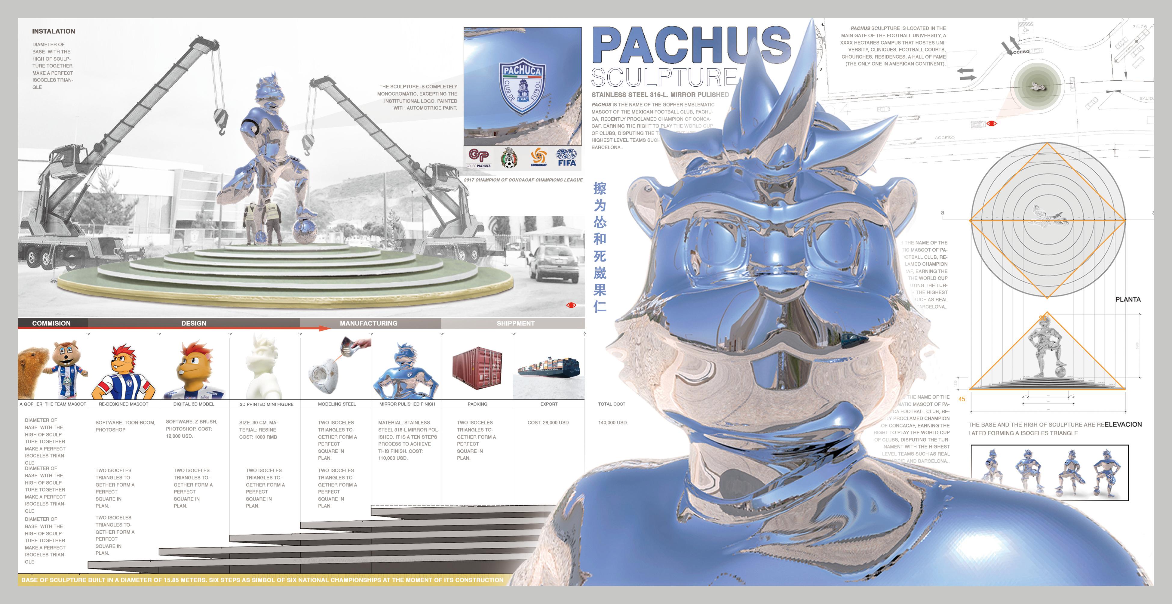 pachus logo esculptura portafolio