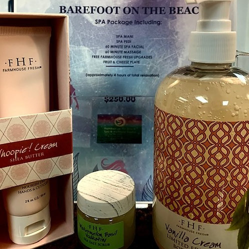 Gift Card - Barefoot on the Beach Spa Package Special
