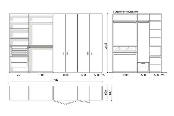 Porro гардеробный шкаф Storage схема
