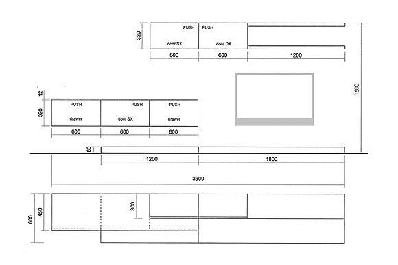 Cappellini пристенная композиция Sistema схема