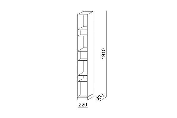 Porro стеллаж поворотный Sidewall схема