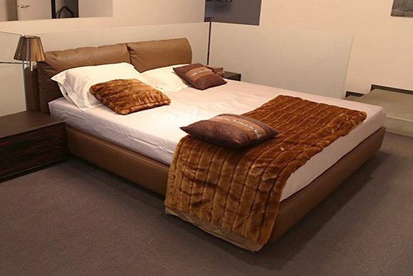 Poltrona Frau кровать Massimosistema кожаная