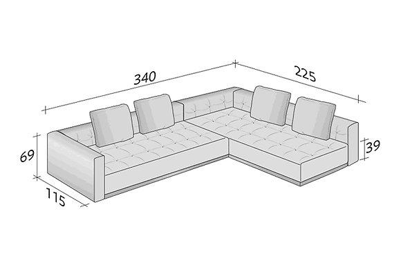 Flou диван угловой Doze схема