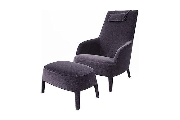 Maxalto кресло с пуфом Febo Bergere