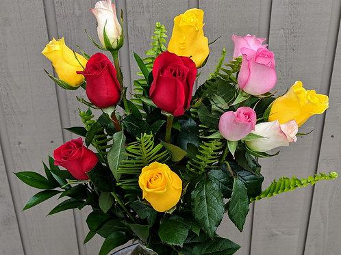 Corso's Mixed Dozen Roses