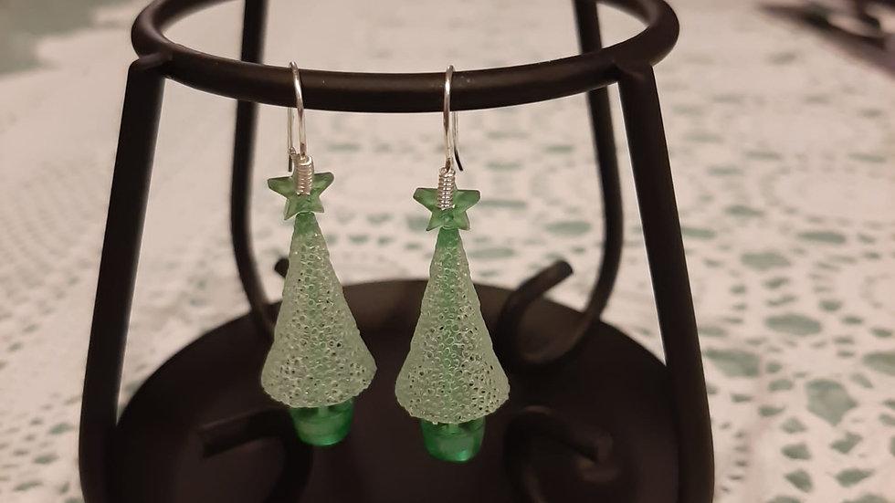 Orecchini Albero di Natale stampato in 3D Resina