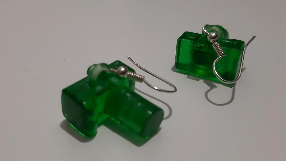 Click Orecchini Reflex Macchina Fotografica stampa 3D
