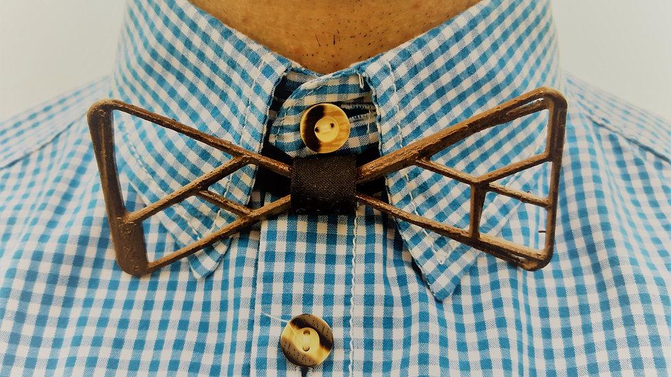 Papillon Uomo stampato in 3d colore legno.
