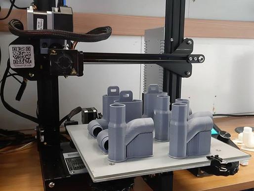 Raccordi stampati in 3D per maschere Easybreath