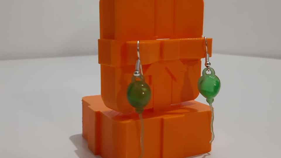 """Orecchini Balloon Earrings """"Model Up"""". Orecchini a palloncino stampati in 3D."""