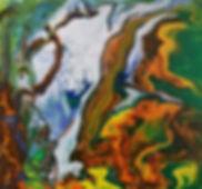 Secret Love (Poured Acrylic) 12x12