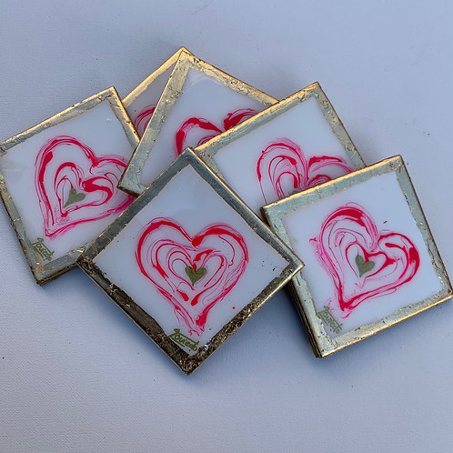 Pink and Gold Coasters
