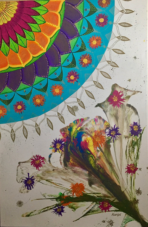 Mandala and Flowers