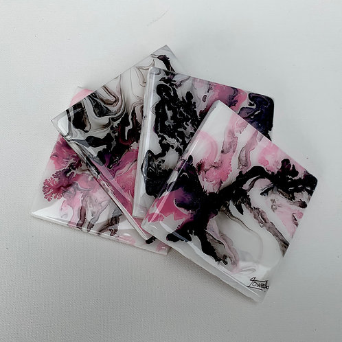 Black and Pink Coasters