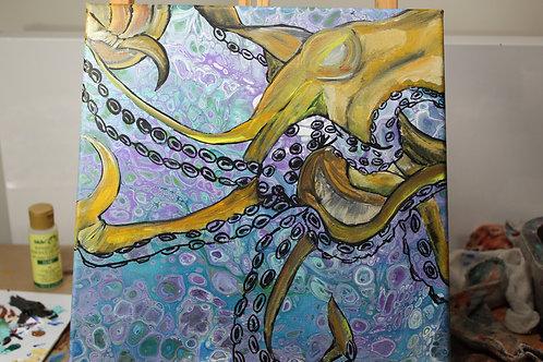 Yellow Purple Octopus
