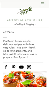 Lifestyle website templates – Recipes Blog