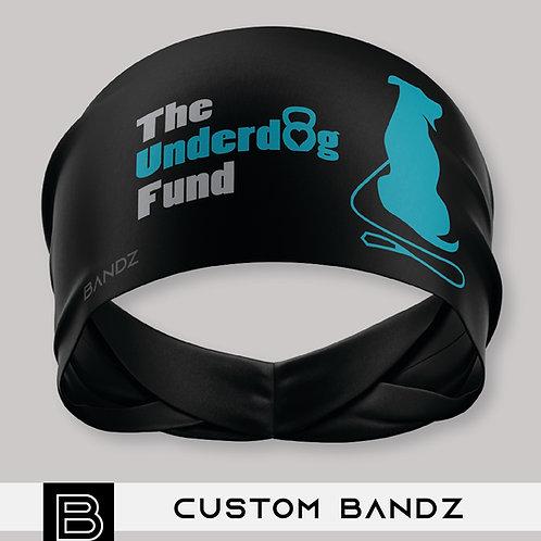 Barbells For Bullies Headband - Underdog Fund - Black & Teal