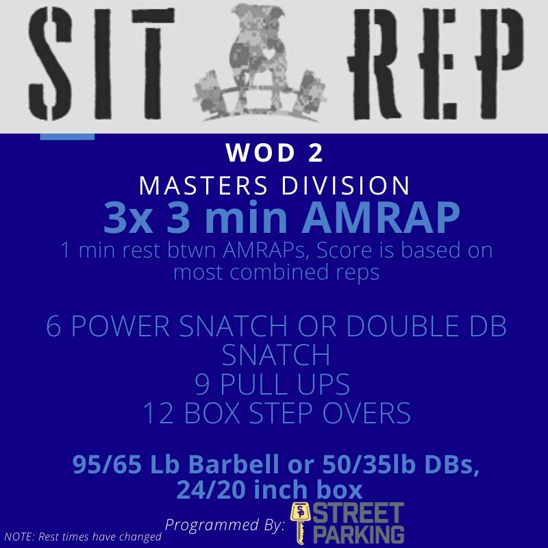 Sit Rep 2020  Wod 2 Masters Division Rev