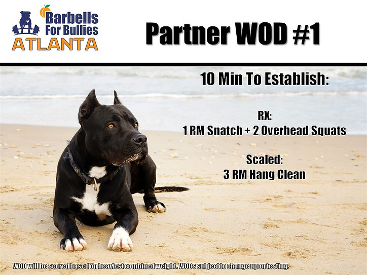 Atlanta 2018 Partner WOD 1
