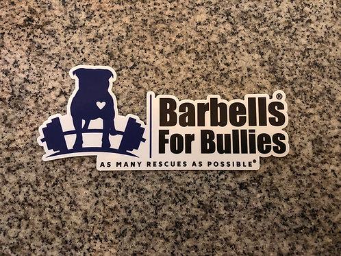Barbells For Bullies Bumper Sticker