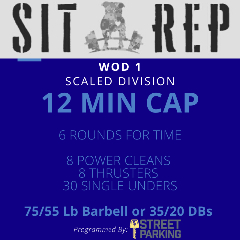 Sit Rep 2020  Wod 1 Scaled FIN