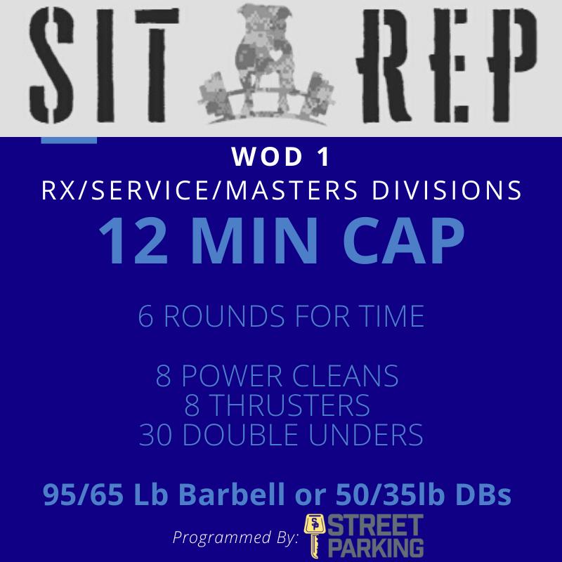 Sit Rep 2020 WOD 1 RX.Service