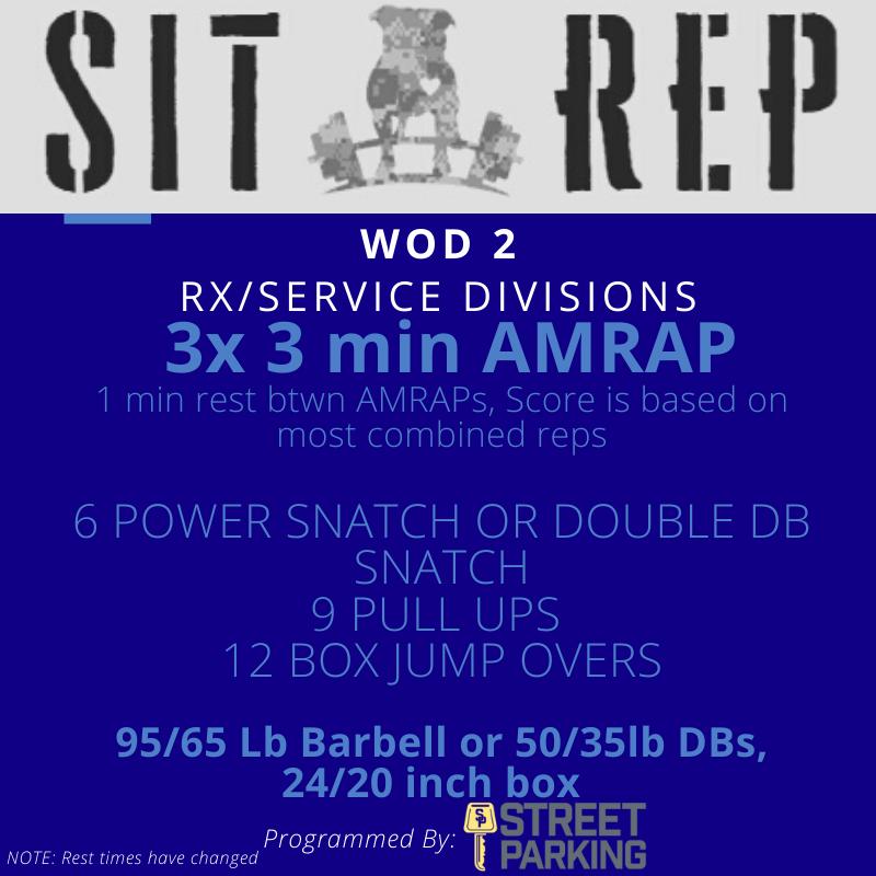 Sit Rep 2020  Wod 2 RX