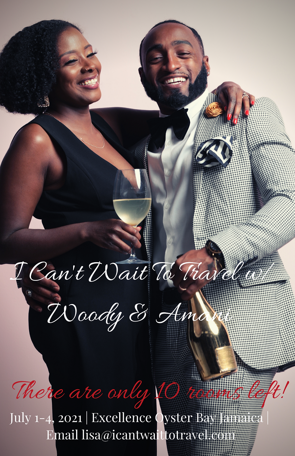 We're celebrating the Fourth of July weekend with one of Married At First Sight's favorite couples:  Woody & Amani Randall   We're going to stay at the all-inclusive, adult-only,  Excellence Oyster Bay Resort on a private peninsula in Montego Bay, Jamaica from July 1-4, 2021.  There are only 10 rooms left!
