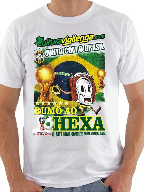 CAMISA RUMO AO HEXA CULTURA VIGILENGA BRASIL