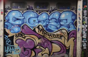 Wall art in Dam Street