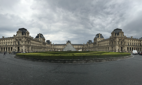 louvre on a rainy day.HEIC