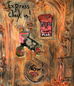 Daily Post, Akryl på lærred, 60x73 cm, 2500 kr.