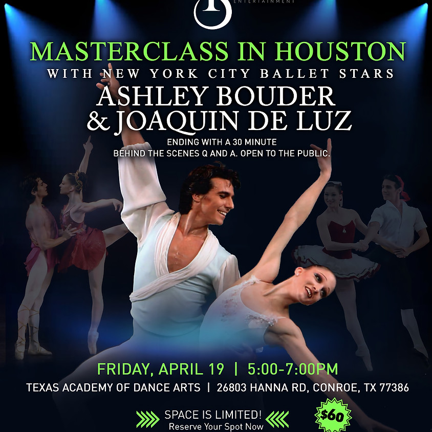 MASTER CLASS WITH NYCB STARS ASHLEY BOUDER AND JOAQUIN DE LUZ