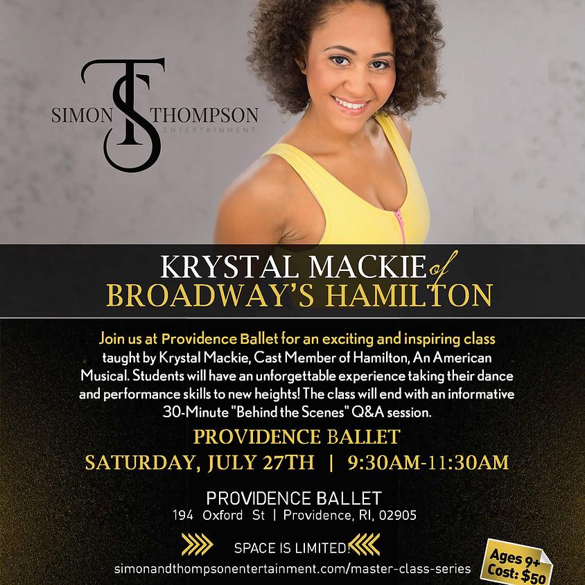 HAMILTON Master Class Series with Krystal Mackie - Providence Ballet